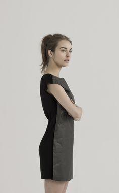 BLACK TYVEK PAPER POP DRESS | UEG STORE