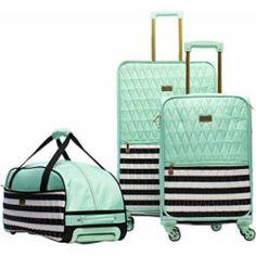 d48ac42d1 Macbeth Madison 3 Piece Luggage Set, Mint Duffel Bag, Luggage Brands, Luggage  Sets