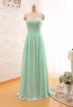 2019 Long Cheap Mint Green Bridesmaid Dresses Under 50 Floor Length Chiffon  a-Line Vestido De Madrinha De Casamento Longo 7b9e0a141228