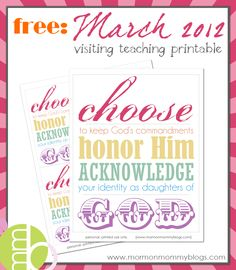 Free March 2012 Visiting Teaching Printable Handout