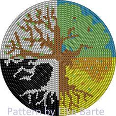 Crochet Bedspread Pattern, Tapestry Crochet Patterns, Crochet Mandala Pattern, Crochet Chart, Crochet Stitches, Cross Stitch Embroidery, Cross Stitch Patterns, Sacred Geometry Patterns, Mochila Crochet