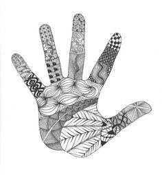 Hand Zentangle