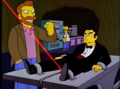 """You Only Move Twice"" After being offered a great job Homer meets Hank Scorpio a world villain that actually treats his employees very well. Albert Brooke ad lib most of his lines. Scorpio was meant as the villain of the Simpsons movie although this was changed Brooke played the villain as well."
