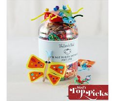 A Craft Jar! Full of random Arts and Crafts for kids (I'll make it myself instead of buying it though)