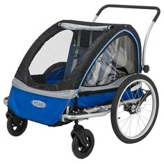 The best way to enjoy a bike ride with little ones who are too young to pedal on their own. Our bicycle trailers provide exceptional comfort and safety so your child can cruise in style while you enjoy the ride without a worry.<br><br>Features:<br><ul><li>Bike trailer</li><br><li>Quick release rear wheels with aluminum rims for optimum performance</li><br><li>Dual front wheel stroller kit for added maneuverability</li><br><li>Universal trailer coupler attaches to most bikes with…