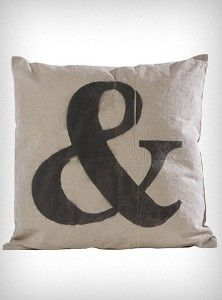 I've seen a few Ampersand Pillows for beds with Mr. This is the first one I have found that is really my style. The others are white with modern black print. I like that this is canvas! Cute Pillows, Diy Pillows, Decorative Pillows, Throw Pillows, Cushions, Fabric Squares, Screen Printing, Burlap, Crafty