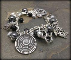 Hecates Magick charm bracelet Goddess wicca by SpellboundOriginalz