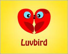 Kawaii logo design: Luvbird http://www.geniuzz.com/s/graficos-diseno/graficos-diseno-diseno-de-logos/?trackid=130