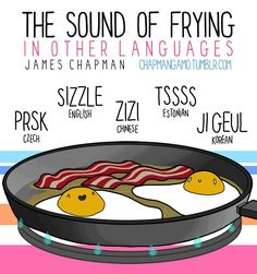 The Sound of Frying In Different Languages | www.ghantagiri.com #ghantagiri