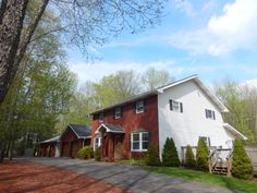 NOW $279,000 Lake Ariel COUNTRY ROADS TAKE YOU HOME to No Community 4,000 square foot Center Hall Brick Faced Colonial Features 5+ wooded acres,5 Car Garage, http://www.flexmls.com/share/Io6w/526-Stock-Farm-Road-Lake-Ariel-PA-18436