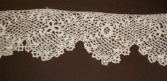 Antique Lace  54 inches of 2 2/8 wide Lacy Crochet 1920s France Germany 1920s