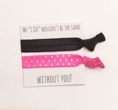 A personal favorite from my Etsy shop https://www.etsy.com/listing/468697833/bridesmaid-hair-tie-favorshair-tie-favor