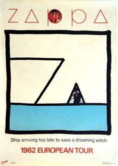 Frank Zappa - 1982 European Tour Poster