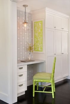 Would love to do this, have a little nook & pop of colour via a chair