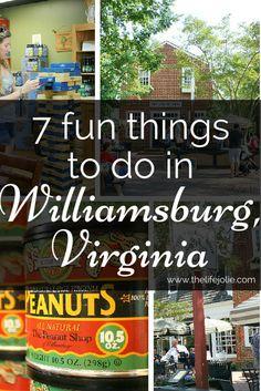7 fun things to do in Williamsburg, Virginia