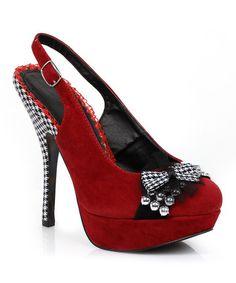 Look what I found on #zulily! Red Caroline Pump by Bettie Page #zulilyfinds $20