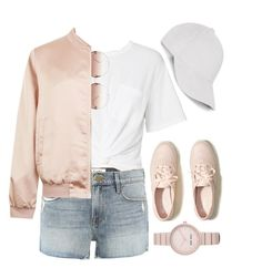 """Blush Pink"" by forgotten-unicorn ❤ liked on Polyvore featuring Frame, Hollister Co., T By Alexander Wang, Linda Farrow, Cameo Rose, Le Amonie and Nine West"