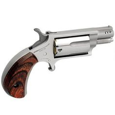 "North American Arms Single Action Revolver .22 Magnum 1.125"" Ported Barrel 5 Rounds Wood Grips Stainless Finish NAA-22MS-P - NAA22MSP - 744253002151"