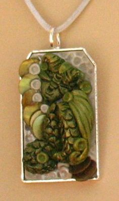 Sleeping Green Dragon Pendant Necklace Jewelry by britpoprose99, $14.99