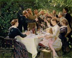 Peter Severin Kroyer-Künstlerfest bei M. u. A. Ancher