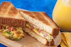 These Denver Omelet Sandwiches for Two are quick, easy and as big as the West when it comes to flavor.