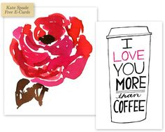 Free Valentine E-Cards from Kate Spade - Home - Creature Comforts - daily inspiration, style, diy projects + freebies