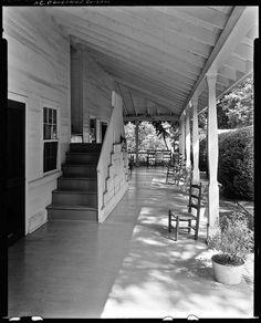 Porch - 1a Sherrill Inn, North Carolina, 1938, via Library of Congress → blog about porches & enclosures