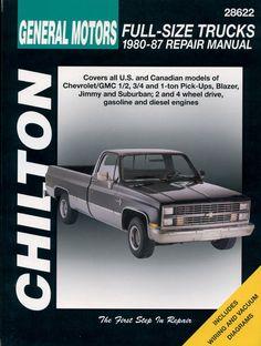 1984 1996 chevrolet parts and illustration catalog scr1 repair chilton repair manual chevrolet pick ups 1980 87 fandeluxe Images