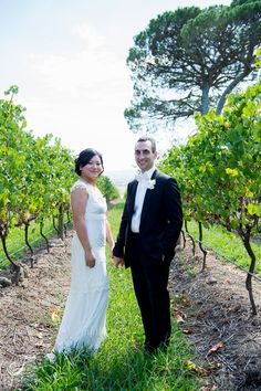 The bride and groom at the wineries during February // Melbourne Wedding Photography by Finessence Photography // www.finessence.com.au