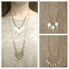 Pairing the Leya and the Abbey necklace as a layered piece. www.etsy.com/shop/MLKANHNY