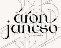 Personal ID style practice {Áron Jancsó} #typography #inspiration #behance
