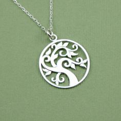 Celtic Tree Necklace - sterling silver - pendant - necklaces - handmade - tree pendant on Etsy, $34.00