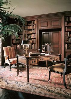 Century Furniture. Sophisticated Traditional Study.