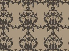 """Almost People"" by zerographic brown, chocolate, classic, damask, ornate, tan, vintage"