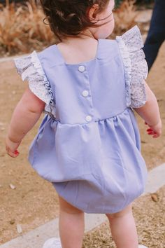 Infant Girl's Lavender Cotton and Calico Floral Bubble Romper with Crochet Lace Trim 1st Birthday Dresses, First Birthday Outfits, Girls Rompers, Girls Dresses, Toddler Fashion, Kids Fashion, Matching Sister Outfits, Girl Outfits, Cute Outfits