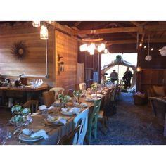 Elegant party in an old barn.