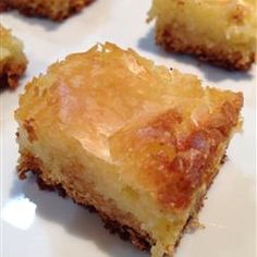 Gooey Butter Cake - We always called it Goody Butter Cake and put pecans on top before we baked it.  Mom's recipe :)