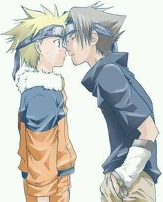 Almost a kiss Dx~~  #naruto #sasuke #gay #couple #yaoi #narusasu #sasunaru #anime #animeboy