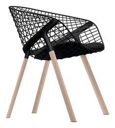 Alias. Kobi Wood Chair - With small seat cushion