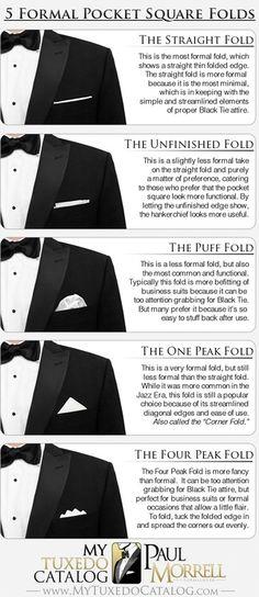 Pocket Square Folds (Formal)