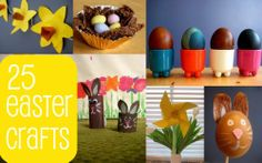 25 Easter craft ideas and activities for kids : bunnies, chicks, daffodils, egg decorating, egg rolling games. Packed with cute ideas!