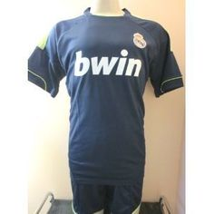"""REAL MADRID # 7 RONALDO AWAY SOCCER UNIFORM JERSEY & SHORT SIZE ADULT LARGE.NEW by ALLSOCCER. $34.95. GREAT QUALITY. ADULT LARGE. NEW. SOCCER. JERSEY & SHORT UNIFORM. REAL MADRID # 7 CRISTIANO RONALDO AWAY TEAM SOCCER UNIFORM.  JERSEY/SHORT  YOU MUST ADD THIS ONE TO YOUR COLLECTION !!!! FOR ADULTS (SIZE LARGE )  SIZE USA ADULT LARGE . JERSEY IS 22""""ARMPIT TO ARMPIT BY 30"""" FROM NECK TO BOTTOM. SHORTS SIZE  ADULT LARGE.   THE REAL MADRID SOCCER SET (JERSEY & SHORT... Madrid Soccer Team, Soccer Uniforms, Jersey Shorts, Cristiano Ronaldo, Outdoors, Fan, Sports Equipment, Mens Tops, Shopping"""