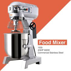 3 Speed Commercial Dough Food Mixer 600W 4/5P 15Qt Stainless Steel Pizza Bakery · $515.99 Pizza Dough Mixer, Honey Extractor, Gear Drive, Stainless Steel Material, Espresso Machine, Coffee Maker, Bakery, Commercial, Ebay