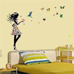 muurstickers muur stickers, meisjes ruimte kleurrijke vlinder pvc muurstickers 2016 – €6.85