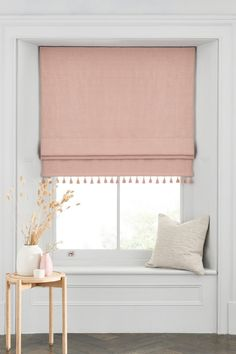 Buy Tassel Edge Roman Blind from the Next UK online shop Blinds For Windows Living Rooms, Bedroom Blinds, Bedroom Windows, Living Room Roman Blinds, Shades For Windows, Plywood Furniture, Furniture Design, Blackout Roman Blinds, Diy Roman Blinds