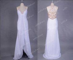 white prom dresses chiffon prom dresses unique prom by sofitdress, $146.00