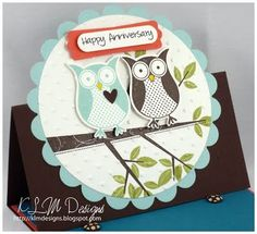 36th Wedding Anniversary Gift Ideas For Parents : Owl Anniversary cardmade one like this for my parents 36th wedding ...