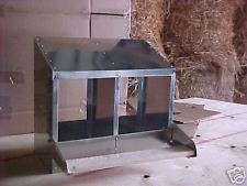 """(12x2L)  2-Hole 12""""X12"""" Metal Chicken Nesting Box  NEW (egg, chick, hen, USA) $45 ebay for watson/ bay window out"""