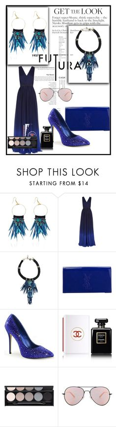 """High heaven party"" by carolstos on Polyvore featuring Matthew Williamson, Yves Saint Laurent, Chanel, Witchery, Behance, women's clothing, women's fashion, women, female and woman"