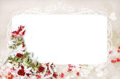 Прозрачный PNG фоторамка с цветком и Розы